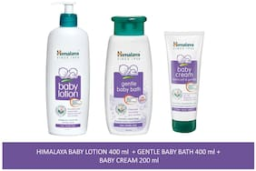 Himalaya Baby Combo Pack (1 Baby Bath, 1 Baby Cream and 1 Baby Lotion) Pack of 3