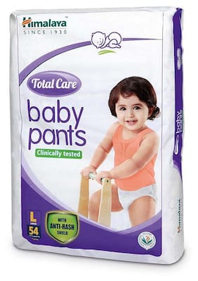 Himalaya Total Care Large Size Baby Pants Diapers (54 Count)-L