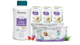 Himalaya Baby Combo 3 - Powder (700 g) Gentle Wipes 72s - (Set 2) And Refreshing Soaps (3x125 g)