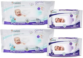 Himalaya Gentle Baby Wipes 72X2 And Gentle Baby Wipes 12 X2