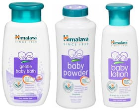 Himalaya Gentle Baby Bath - 100 ml + Baby Powder - 100 g + Baby Lotion - 100 ml (Pack of 3)