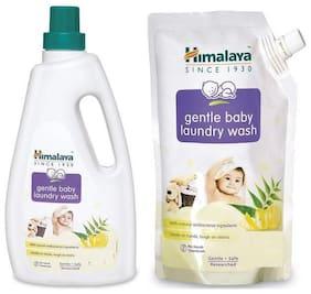 Himalaya Gentle Baby Laundry Wash 1000ml And Gentle Baby Laundry Wash 500 (ml) (Pack of 2)