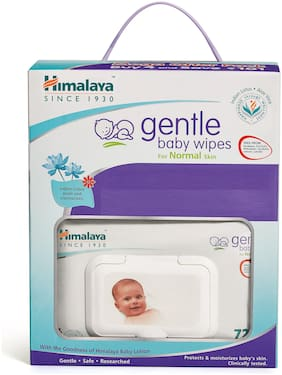 Himalaya Gentle Baby Wipes With Lid 72 Wipes (Pack of 4)