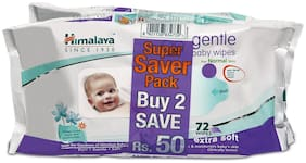 Himalaya Gentle Baby Wipes 72s (Pack of 2)