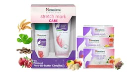 Himalaya Mom Care Combo 2 - Stretch Mark Cream And Oil - (100 ml) And Rich Rose Soaps (3x125 g)