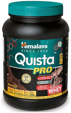 Himalaya Quista PRO ADVANCED Whey Protein Powder Chocolate 1 kg (Pack of 1)