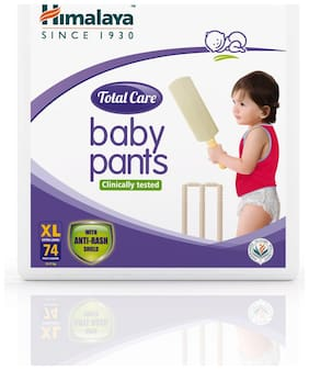 Himalaya Total Care Baby Pants Diapers X Large 74 pcs