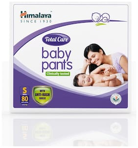 Himalaya Total Care Baby Pants Diapers Small 80 pcs