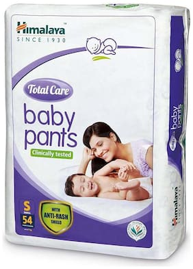 Himalaya Total Care Small Size Baby Pants Diapers (54 Count)-S