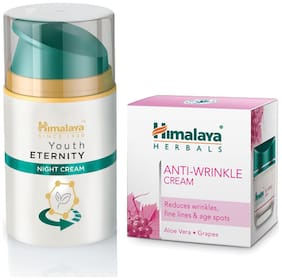 Himalaya Youth Eternity Night Cream 50ml and Himalaya Anti-Wrinkle Cream 50g (Pack of 2)