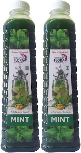 Himalayan Flora Pure Natural Mint Squash Twins Pack( 1L Each)
