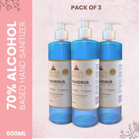 Himalayan Natives 70% Alcohol Hand Sanitizer 500 ml (Pack of 3)