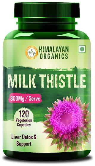Himalayan Organics Milk Thistle Extract Silymarin 800Mg/Serve 120 Veg Capsules (1)