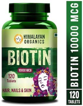 Himalayan Organics Biotin 10000Mcg for Hair Growth- 120 tablets