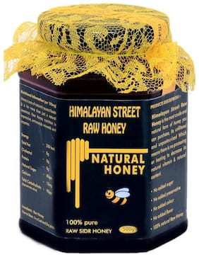 Himalayan Street Raw Honey 100% Natural Unprocessed Raw Sidr berry Honey 500g (Pack Of 1)