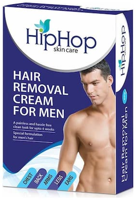 HipHop Skincare  Hair Removal Cream for Men (Pack of 2)