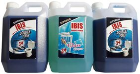 HOME CLEANING COMBOS: 2 L TOILET BOWL CLEANER & 1 L GLASS CLEANING & MULTIPURPOSE CLEANER-PERFUME RAZZ. TOTAL 3 L