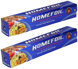 Homefoil Food Wrap Aluminium Foil 72 m Pack of 2
