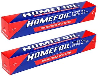 Homefoil Food Wrap Aluminium Foil 21 m Pack of 2
