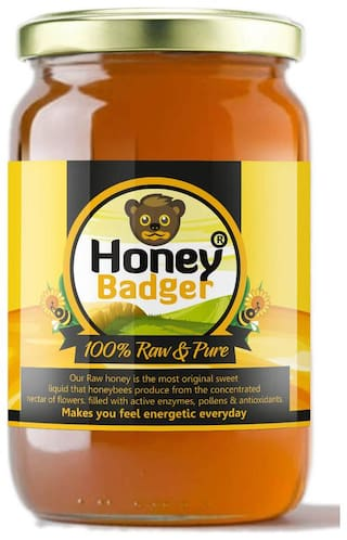 HONEY BADGER Unfiltered, 100% Pure for Sure Honey 500 g Pack of 1