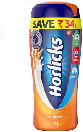 Horlicks - Health & Nutrition Drink (Classic Malt) 1Kg Pet Jar