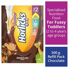 Horlicks Junior Health & Nutrition Drink Chocolate Flavour  Stage 2  46 Years 500 g