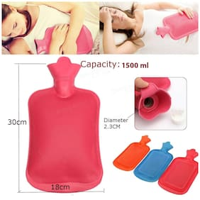 Hot Water Bottle Used for Heat Therapy Treatment ( Random Color )