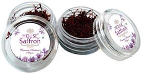 HOUSE OF SAFFRON Kashmir Original Long Thread Mogra Saffron Grade A1+++ Premium Natural Kesar - ss2g1g 1g each Pack of 2