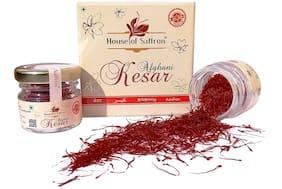 House of saffron Pure Afghani Saffron Kesar 100% Natural Grade 1 ISO certified Keshar Threads 1g (Pack of 1)