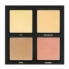 HUDA Professional Makeup 3D Highlighter Palette Golden Sands