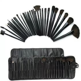 HUDA Professional Makeup Multipurpose Synthetic Fibre Brush Set of 32 Pcs for Makeup and Cosmetics with Black Pouch Case Premium Quality