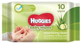 Huggies Baby Wipes - Cucumber & Aloe 10 Pulls