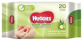 Huggies Baby Wipes - Cucumber & Aloe 20 Pulls