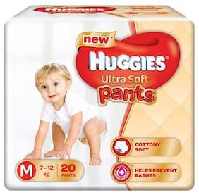 Huggies Diapers - Medium Size  Premium  Ultra Soft Pants 20 pcs