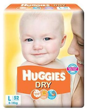 Huggies New Dry Large Size Diapers 52 pcs