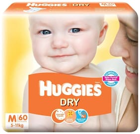 Huggies New Dry Medium Size Diapers 60 Counts
