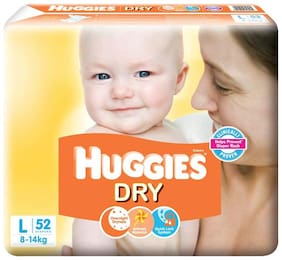 Huggies New Dry Large Size Diapers 52 Counts