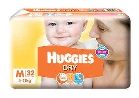 Huggies New Dry Medium Size Diapers 32 Counts