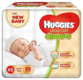 Huggies Ultra Soft New Born Diapers 22 pcs