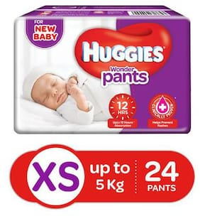 Huggies Wonder Pants Extra Small Size Diaper Pants 24 pcs