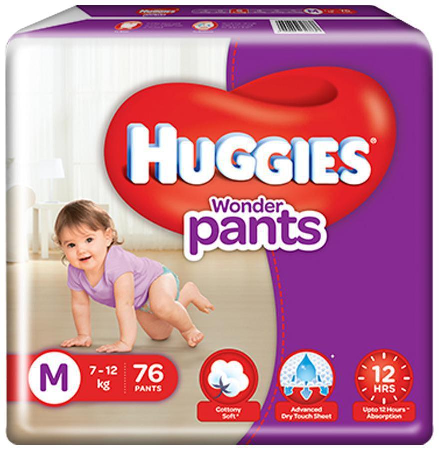Huggies Wonder Pants Medium Size Diapers 76 pcs