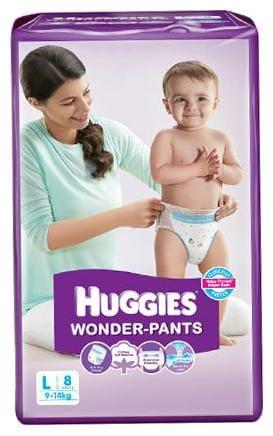 Huggies Wonder Pants Diapers - Large (9 - 14 kgs) 8 pcs