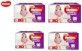 Huggies Wonder Pants Large Size Diapers (Pack Of 4 48 Counts Per Pack)