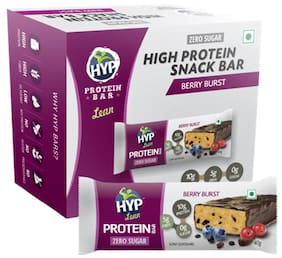 HYP LEAN - Sugarfree Protein Bar - Berry Burst (Pack of 6 Bars)