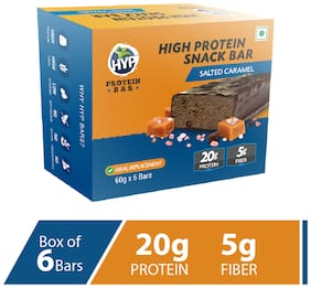 HYP Protein Bar Salted Caramel 60 g (6 Bar) Pack of 1