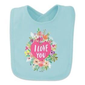 I Love You Flower Heart Wreath Baby Bib