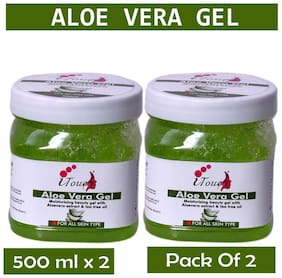 I Touch Herbal Aloevera Face Gel Cleanser -500ml( Pack Of 2 )