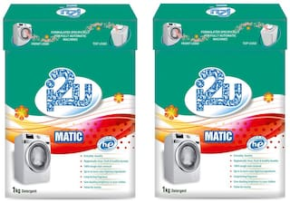i2u Matic Front/Top Load Detergent Powder - 1 Kg (Pack Of 2)