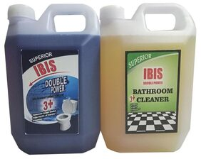 IBIS CLEANING LIQUID COMBO :  1 LITRE EACH OF DISINFECTANT BOWL CLEANER &  BATHROOM CLEANER- FRAGRANCE COLOGNE. TOTAL : 2 LITRES