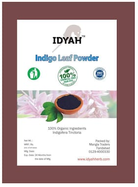 Idyah Indigo Heena Powder 100% Natural No PPD & Chemical Free For Hair Care  1 kg (Pack of 1)